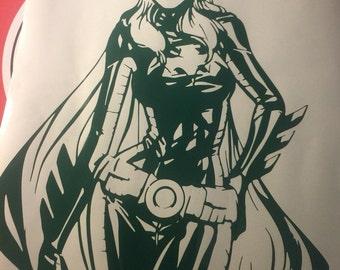 Batgirl decal