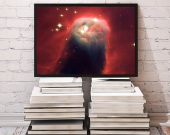 Cone Nebula poster Space decor Galaxy print