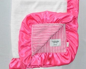 Snow stripes, Minky blanket.