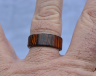 Beautiful Handmade Cocobolo Ring/ Band