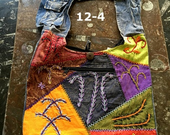 Hand Stitched Boho Shoulder Bag | Cross Body Bag | Several Styles to Choose From