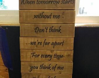Pet Memorial Poem - wooden sign