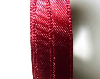 30 metersSatin ribbon 9mm burgundy