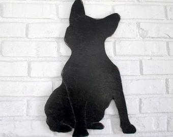 French Bulldog Boston Terrier Rustic Wooden Sign Home Decor Dog Wall Art #5020