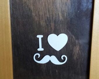I <3 Mustache Sticker/Decal/Wall Art