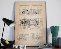 Batman Patent Print, Batmobile Wall Art Poster, Patent Art, Batman Patent Art, Batmobile Patent - DA0009