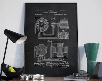 Tesla coil patent print tesla coil art print electro magnetic patent print tesla patent tesla patent poster home decor tesla malvernweather Gallery