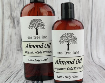 Organic Sweet Almond Oil  • Cold Pressed • Carrier Oil  • Base Oil  • Massage  • Aromatherapy  •