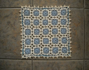 Beautiful NEW Hand Crocheted Doily Square Motif HI-283