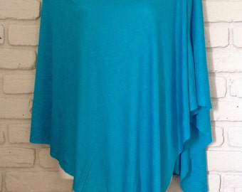 Nursing Cover Poncho (Turquoise)