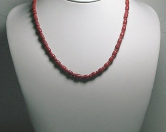 SAVE 20% Red Coral Necklace natural not dyed or enhanced 17.25inch 70ct