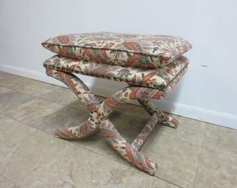 Custom Decorator X Base Foot Stool Ottoman Vanity Bench Seat Chair