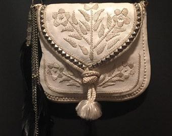 Vintage Studded and Embellished Moroccan Bag