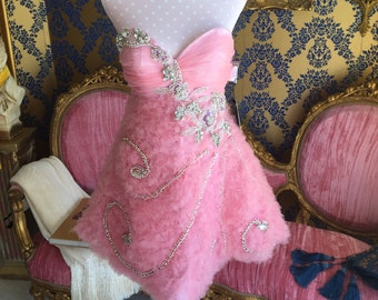 Pink Tulle & crystal dress