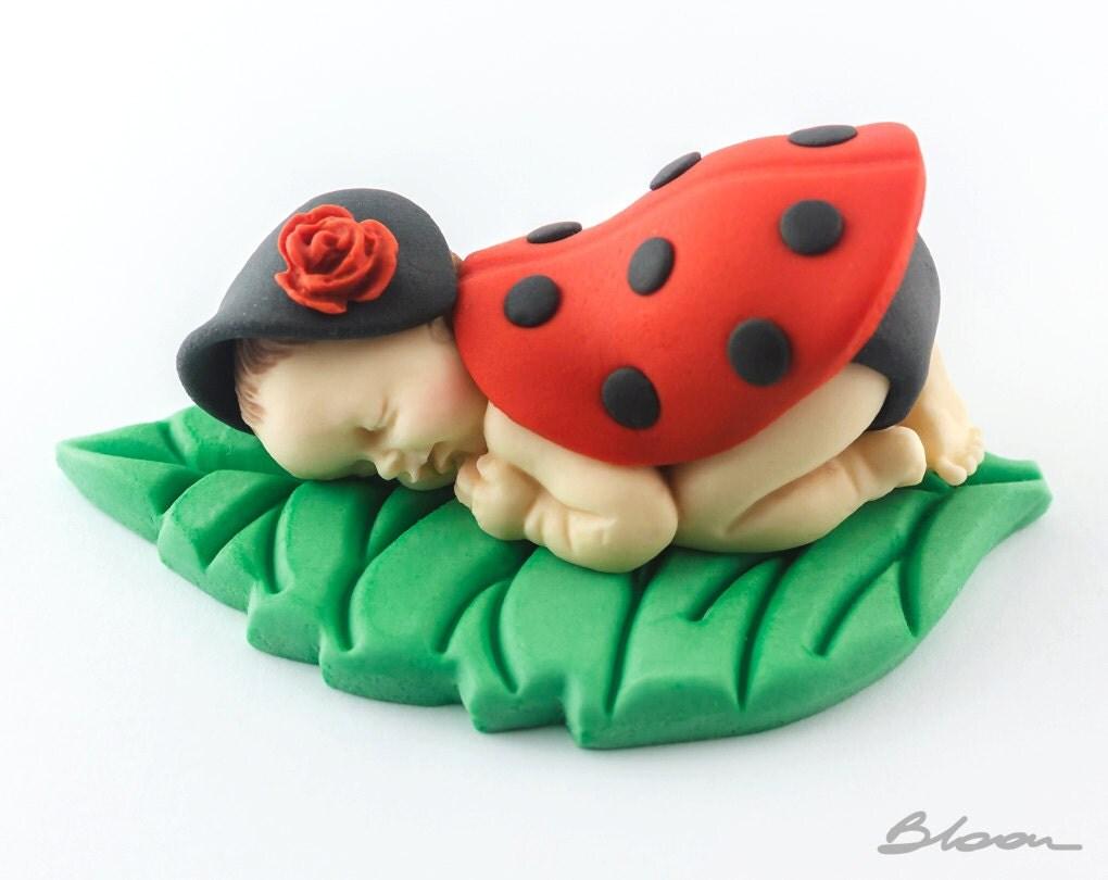 Ladybug Baby Cake