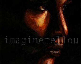 Katniss Everdeen acrylic painting print