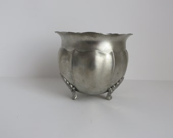 Small pewter planter