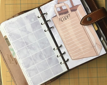 Meal Planner Grocery List Personal Size Planner Inserts