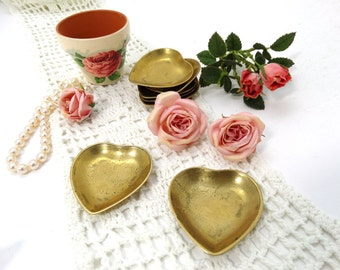Brass Heart Dish - Brass Tray - Brass Hearts - Brass Heart Tray - Jewellery Dish - Love Jewellery dish - Heart tray - Heart decor