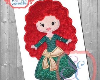 Little Princess 16 Applique Design For Machine Embroidery INSTANT DOWNLOAD