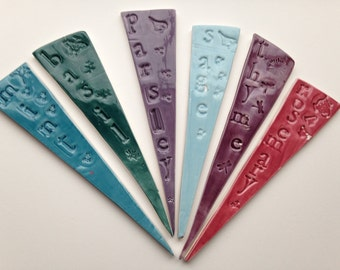 Ceramic Herb Markers - set of 6