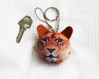 Keyring Lion face