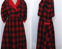dress late 70's Maxi Tartan