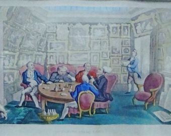 Set Of 3 Antique Charicature Prints By T. Rowlandson, London