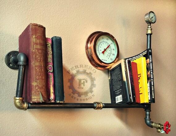 wall shelf wall decor steampunk shelf steampunk decor. Black Bedroom Furniture Sets. Home Design Ideas