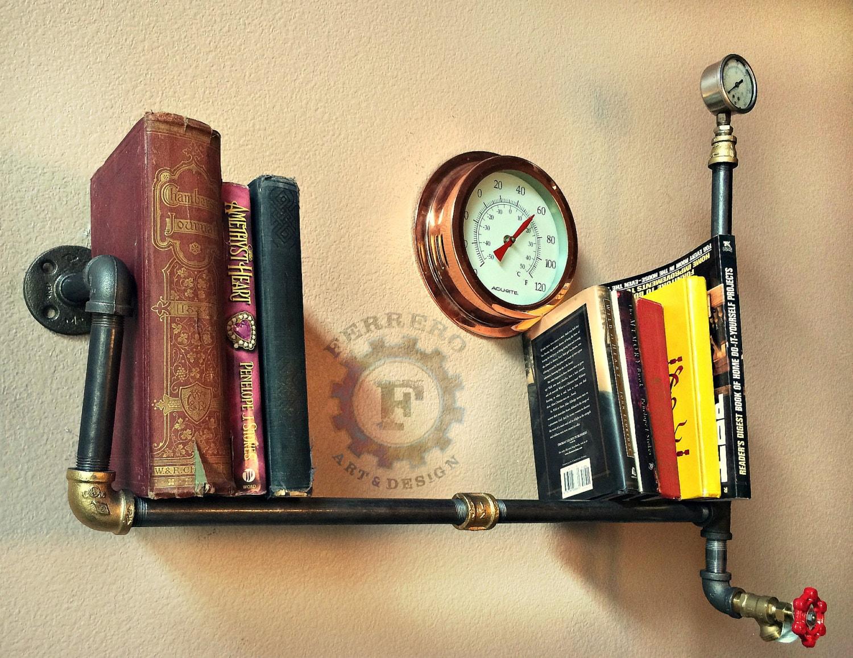 Wall Shelf, Wall Decor, Steampunk Shelf, Steampunk Decor, Industrial ...