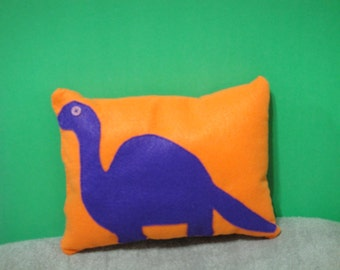 Dinosaur, felt pillow