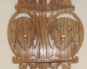 Handmade Labrador Dog Corner Shelf