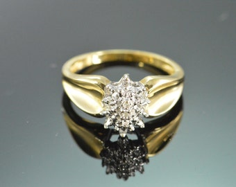 10K Diamond Cluster Ring - Size 7 / Yellow Gold - EL9214