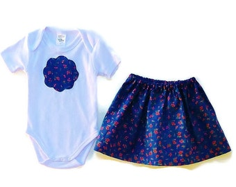 Baby girls skirt outfit, Clothing for baby girls, Special ocassion outfit, sizes 3,6,12 months