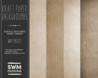 Kraft Paper Backgrounds - Instant Download