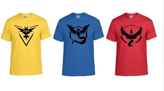 Pokemon go team t shirts pokemon custom t shirt team for Custom team t shirts