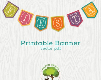 DIY Printable Fiesta Banner (Flags)