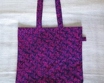 Tote bag / bag shopping in African fabric, model Kiwon