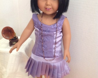 18 inch doll clothes-OOAK Downton Abbey inspired 1920's dress