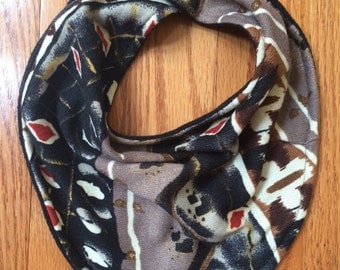 Multicolored Scarf Bib