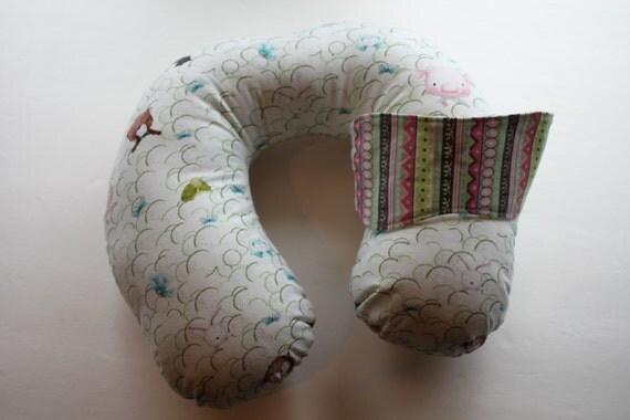 Animal Neck Pillow Pattern Free : Kids Reversible Neck Pillow Set Animals Pattern Pastel