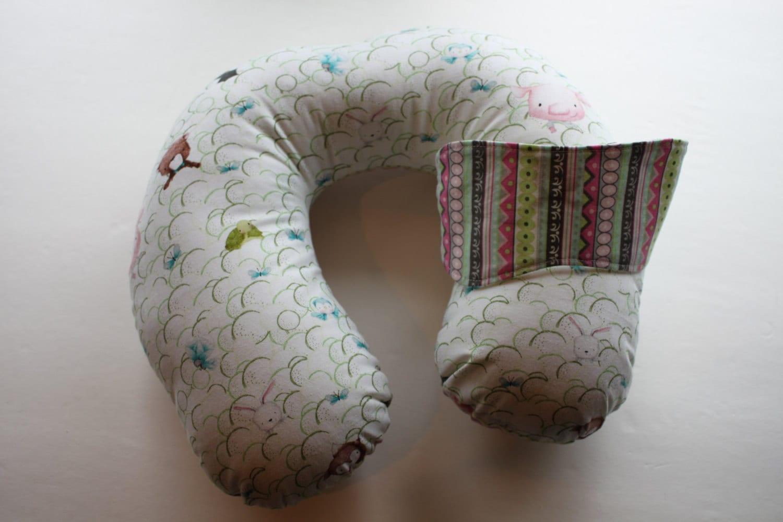 Reversible Animal Pillow : Kids Reversible Neck Pillow Set Animals Pattern Pastel
