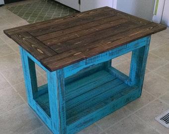 Rustic Distressed Coffee Table, custom sizes.