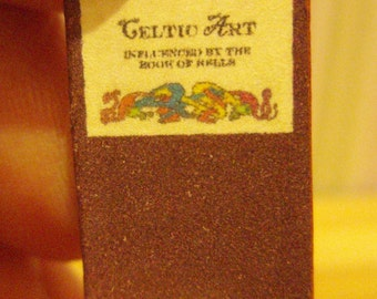 Celtic Art - from the book of Kells - readable 12th scale miniature book
