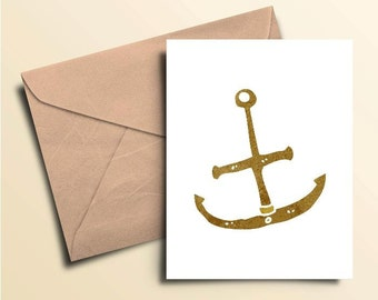 Rusty Anchor Note Cards – Boxed Set of 10 With Envelopes