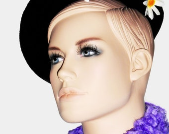 "Mode - Feminine accessory - Beret fantasy ""Daisies"""
