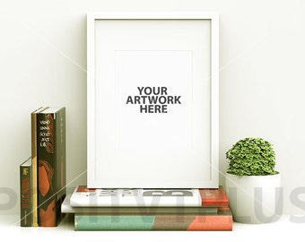 poster frame photography style white frame portrait clean simplicity mockup
