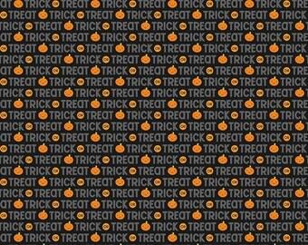 Halloween Sale Ghouls Trick or Treat Black by Doodlebug Designs > Riley Blake Designs > Ghouls and Goodies < Ghosts trick or treat Pumpkins