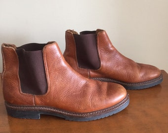 Browns-Bravo Chelsea Leather Boots. Size 42. Made in Italy.
