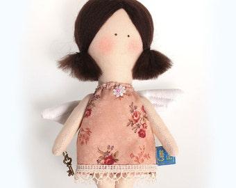 Textile doll Angel girl.